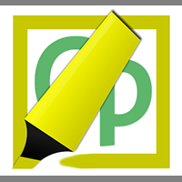 A highlighter drawing a yellow rectangle around the Captivate's CP logo.