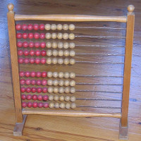 an abacus, a useful representation of real numbers