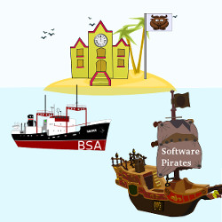 FOSS using schools can have their peace of mind while BSA ship is chasing software pirates