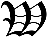 Stylelize big letter W, like the first letter of a chapter in some old books,